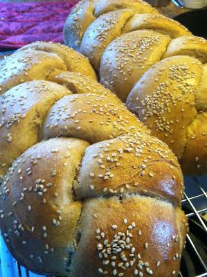 whole wheat challah finish