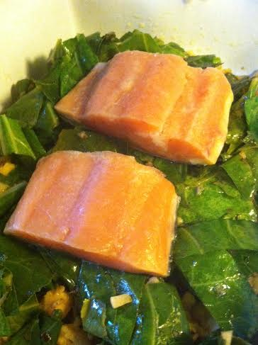salmon and chickpeas raw