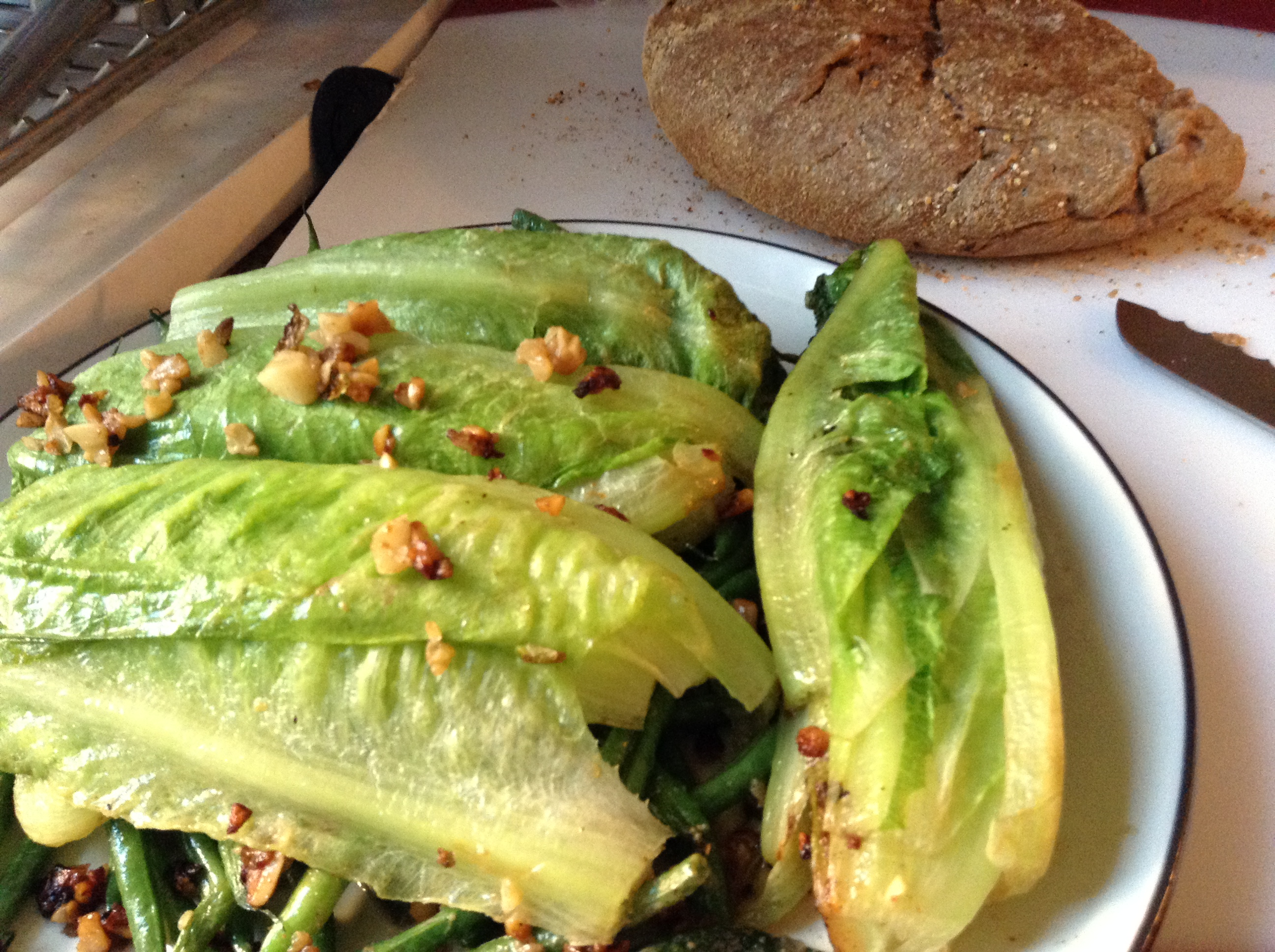 anchovy butter and lettuce