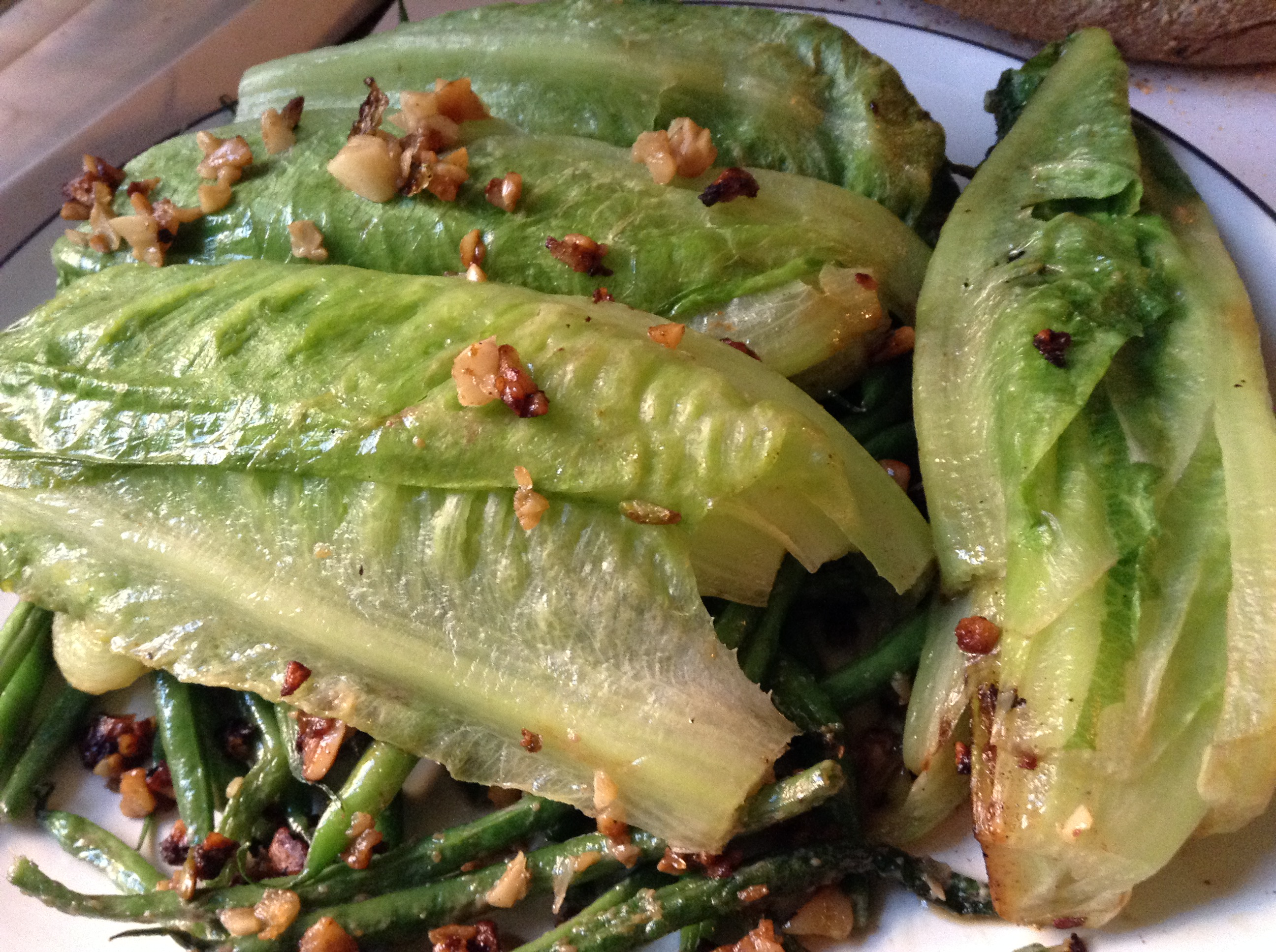 Green Beans and Charred Romaine with Anchovy Butter – Bake This Day ...