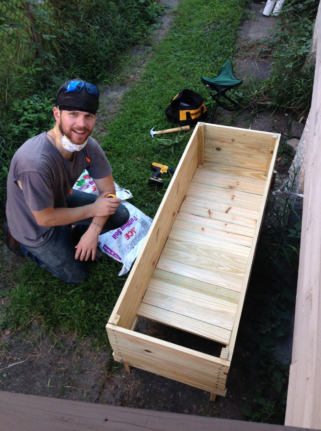 KP doing a raised bed